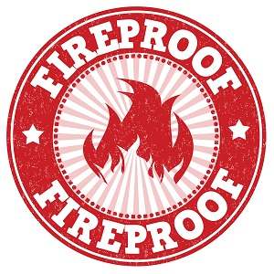 Fireproof sign