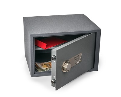 Open Safe with papers, cash