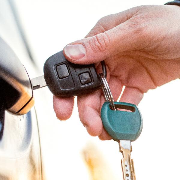 Car keys opening car