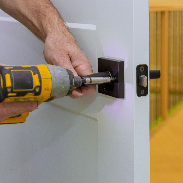 Home lock being installed