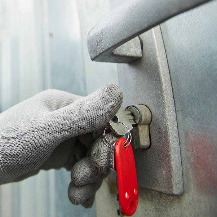 Store key opening lock
